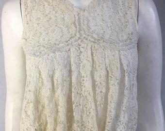 Edwardian lace corset cover