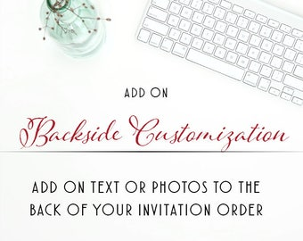 Backer Add on for any paper product in store, Add a Coordinating backing to your wedding suite Printable Digital Design DIY wedding