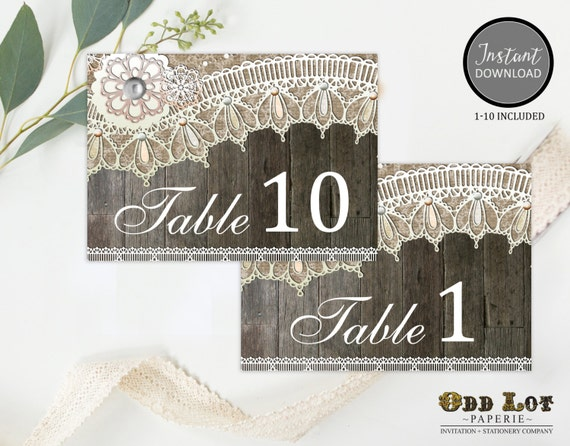 Superb Printable Table Numbers Rustic Wedding Wedding Reception Download Free Architecture Designs Rallybritishbridgeorg