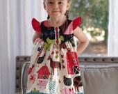 Farm Girl Flutter dress in sizes 0-3 months to girls size 8