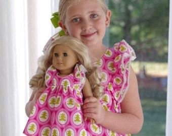 Doll Magnolia dress to match Spring Magnolia