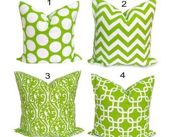 GREEN Pillows, Green Pillow Cover, Decorative Pillow, Green Throw Pillow, Pillow, Chartreuse Pillow, All Sizes, Green Cushion.Throw.Toss
