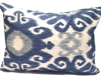 INDIGO PILLOW SALE, 12x16 or 12x18, Blue Pillow Cover, Lumbar Pillow Cover, Decorative Pillow, Throw Pillow, Pillow, Blue Cushion Cover