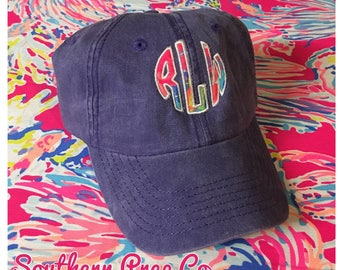 Applique Monogrammed Baseball Cap adjustable strap
