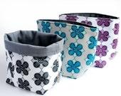 Reversible Fabric Storage Bucket -  Saule Diamond Print
