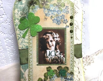 Luck of the Irish~~~Large Tag~~~ Celebrate St Patrick's Day
