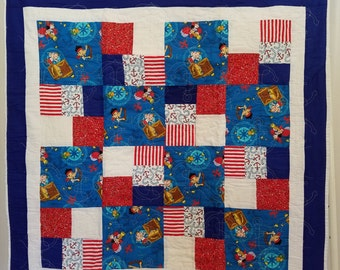 Neverland quilt etsy for Jake quilted bedding