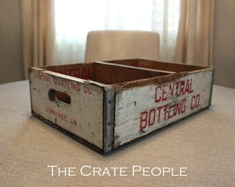 Central Bottling Co Soda Crate -- Bottling Co Crate -- Soda Pop Crate -- Vintage Soda Crate
