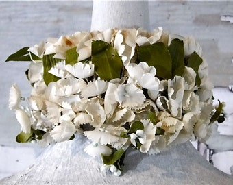 Huge Applique Millinery Hat Making Supplies with Buckram Backing - Flower Garland Wreath - Made in Japan