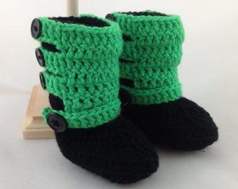 Baby Motocross Boots - Motocross Baby - Dirt Bike Baby - MX Boots - Racing Baby - Dirt Bike Gear - Baby Shower Gift - ATV Baby - Crochet