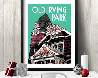 OLD IRVING PARK Chicago Neighborhood Poster