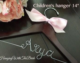 Flower girl hanger, Children's hanger, Baby shower gift, Baptism gift,Name Hanger, Wedding Hanger, Baptism dress hanger,