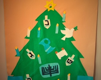 Giant Felt Hanukkah Tree