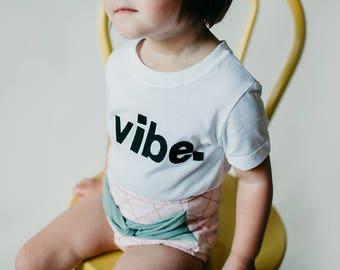 """Swanky Shank Gender Neutral """"Vibe"""" tee or bodysuit"""