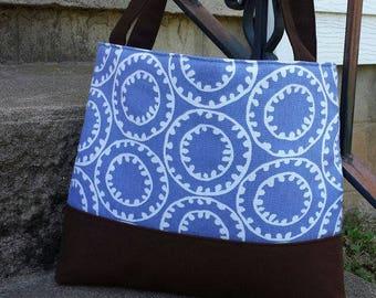 Handbag Purse Tote Bag Shoulder Tote in Wisteria Purple