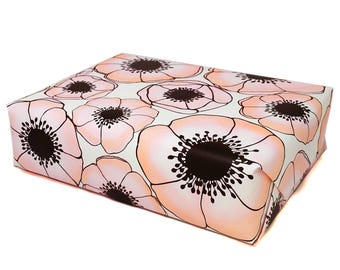 Floral Gift Wrap - Anemone Wrapping Paper in Pink