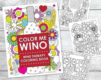 Color Me Wino - Wine Therapy Coloring Book (Printed Book)