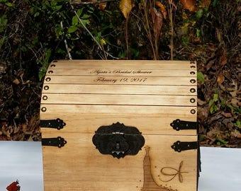 Card Box, Bridal Shower, Wedding Card Box, Medium Size Card Box, Words of Wisdom Box, Anniversary Card Box