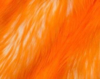 Candy Shag Fur Orange 58 Inches Fabric by the Yard, 1 yard