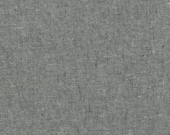 Robert Kaufman Grey Linen Essex Yarn Dyed