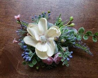 Bridal Hair clip, Hair comb, Accessories,  pink hair clip Ready to ship,  silk  flower hair clip,  Wedding Hair Accessories, Flower clip