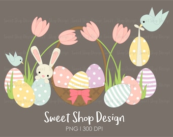 Easter Clip Art, Easter Bunny Clip Art, Easter Egg Clip Art, Egg Hunt, Instant Download