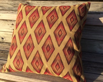 Southwest Pillow, Western Pillow, Red Diamonds Pillow, Farmhouse Pillow, Accent Pillow, Rustic Pillow, Throw Pillow, Southwest Decor