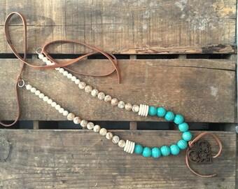 SALE-Rustic Western Boho Wooden Heart Necklace