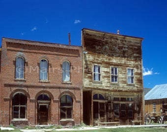 Western Decor Ghost Town Hotel IOOF Historic Bodie California Travel, Fine Art Photography matted & signed 7 x 10 Original Photograph
