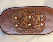 Leather Celtic Cloak Clasp