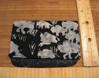 masculine neutral buffalos small handmade billfold or wallet lightweight giftcard holder