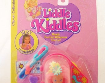 ON SALE Vintage Tyco Liddle Kiddles Suzy Sunshine Clip-On Collection MOC(Mint On Card), 1994, 1962-1, Collectible Toy, Childs Toy, Doll
