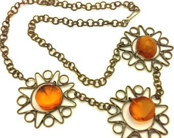 Amber Baltic Necklace Antique Real Unique 12.71 Gr Old Cognac Color