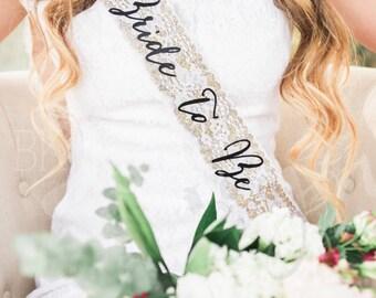 Bachelorette Sash - Bachelorette Party  - Future Mrs. Sash - Bride Sash - Bachelorette Party Sash - Bridesmaid Sash - Bride Gift - Gold Sash