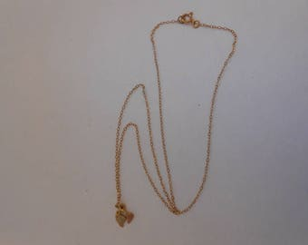 14K Gold Link Chain and Pendant