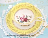 Reserved for J/TEA CUP, Vintage, Fine English Bone China Tea Cup and Saucer Duo by Rosina, Tea Party, Gifts for Her, Replacement China