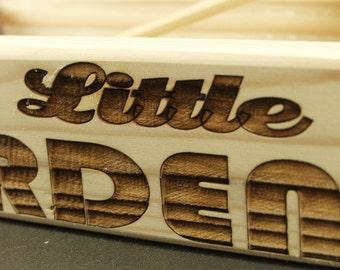 My Little Garden, free Shipping Laser Engraved Window Sill,