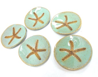 Pottery Ring Dish Ceramic Ring Dish Ring Holder Starfish Dish Starfish Teabag or Teaspoon Holder Starfish Dish in Speckled Turquoise