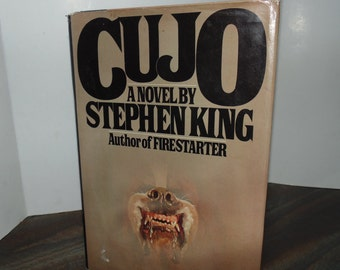 Vintage Stephen King Cujo 1981 Hardcover HCDJ Horror Viking press