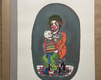 My Familiar - A3 Giclée print, drawing, dark humour, death, naive, outsider, visionary, folk.