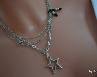 Sweet chain with star and Lily