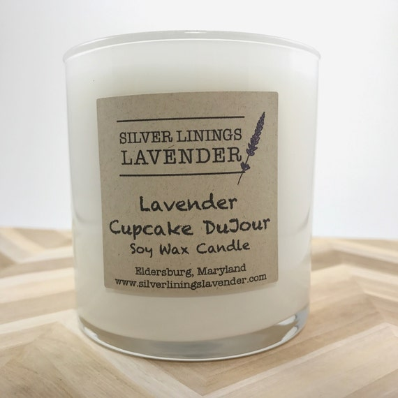 Lavender Cupcake Dujour Soy Wax Candle