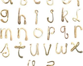 Single Initial Letter Stud Earrings, Gold Fill, Rose Gold Fill, Sterling silver earrings, everyday, simple earrings, Minimalist