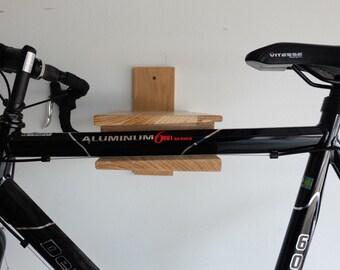 Bike Rack Bike Shelf wood wall mount wooden solid natural
