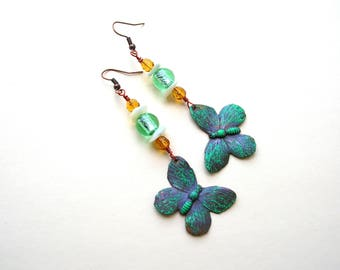 Patina Butterfly Earrings
