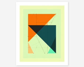 Giclée Fine art Print, Abstract, Geometric Artwork by Jazzberry Blue, DELINEATION (117)