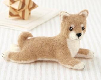 Shiba Dog Hamanaka Felt Wool Mascot Wool Felt Kit Designed by Sachiko Susa H441-424