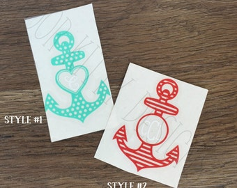 Anchor Vinyl Decal - Anchor Series #1- Personalized