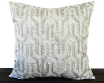 Pillow, Throw Pillow, Pillow Cover, Cushion, Decorative Pillow, Khaki Tan Beige White, Valdo Regal Slub Canvas