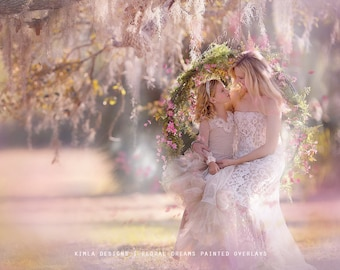 Floral Dreams Painted Photo Overlays for Photographers
